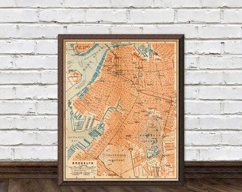 Brooklyn map - Old map of Brooklyn - fine reproduction