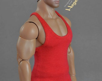 1/6th scale scale XXL red tank top for Hot Toys TTM 20 size bigger figures and dolls
