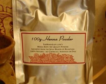 100 g fresh henna powder