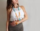 Bohemian Necklace // Bohemian Jewelry // Bohemian Long Necklace // Statement Necklace // Turquoise Necklace // Gemstone Necklace