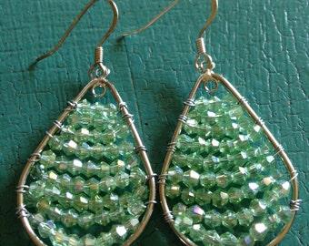 Light Green Bling Earrings