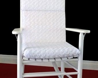 Rocking Chair Cushion Cover - White Microplush, Ready to Ship