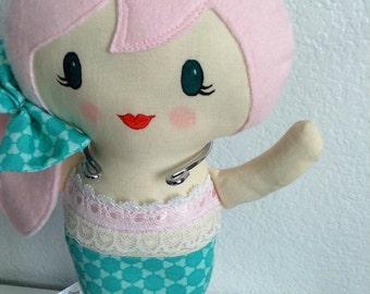 Little Mermaid Doll/softie doll/plush toy/custom mermaid