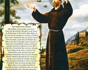 "11""x14"" (28x35 cm) CANTICLE of the CREATURES St. Francis Assisi for Pope Francis visit to USA"