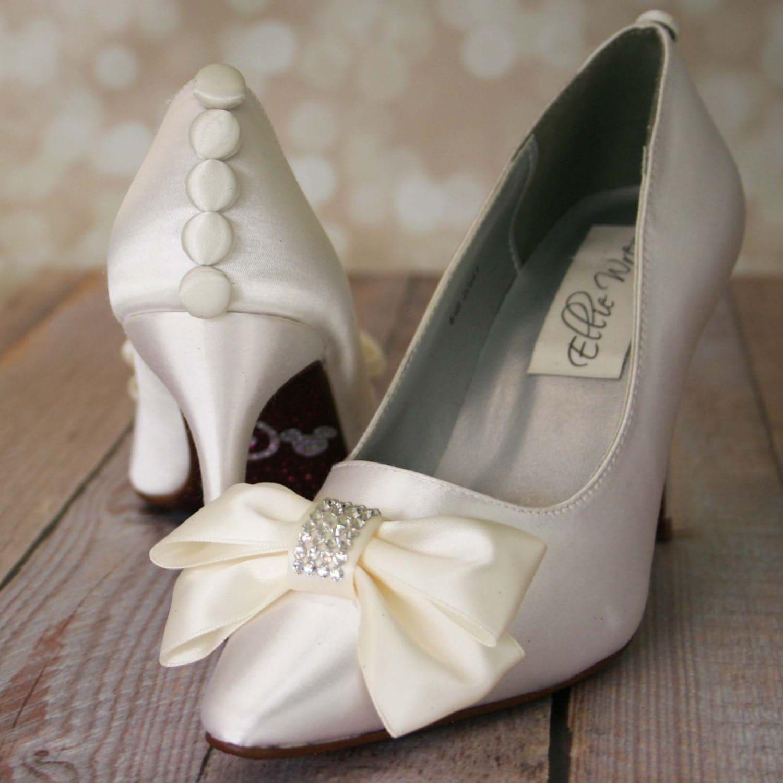 Custom Wedding Shoes Ivory Closed Toe Wedding Shoes With