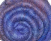 Drum carded Silk / Merino wool fiber batt for felting and spinning - Loulan - 1.5 ounces
