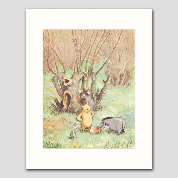 Baby room decor w mat classic winnie the pooh by for Classic winnie the pooh mural