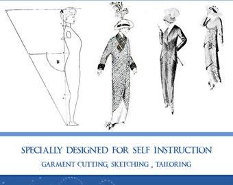 The PRACTICAL DRESS DESIGNER Illustrated Book ~ Design Stunning Downton Abbey Costume Outfits ~ 174 Pages Printable Instant Download