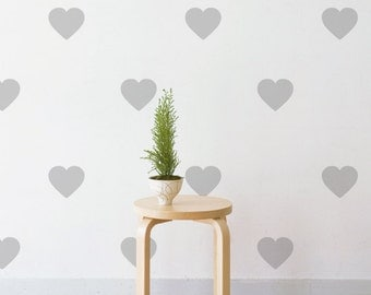 Midi Hearts | Removable Wall Decal & Sticker for Home, Office, Nursery | LSB0212VCC