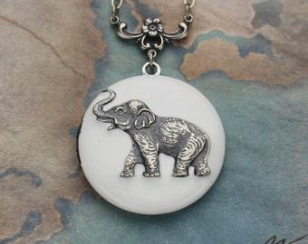 Elephant Locket, Elephant Necklace, Locket Necklace, Elephant Jewelry, Elephant Pendant, Best Friend Gift,Birthday Gift