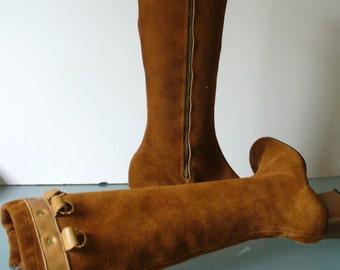 Vintage Suede Mod Boots