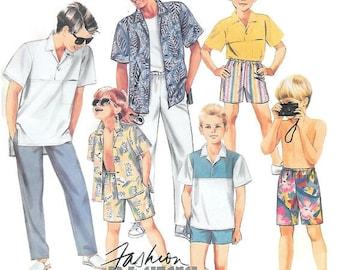 Boys Short Sleeved Shirts, Pants, Shorts Pattern, Front Buttoned Shirt, Bermuda Shorts, Childs Summer Wardrobe, McCalls 2946 Child Size 6
