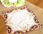 Vintage Hankie Fall Wedding Bridal Bridesmaid Gift Mother of the Bride Autumn Wedding Farmhouse Country Handkerchief  11""