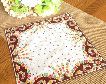 Fall Vintage Hanky Autumn Flowers Farmhouse Hanky Wedding Hankie Cottage Chic Bride's Hanky Bridesmaids Autumn Wedding Handkerchief 11""