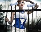 rock lack fetisch mini uniform sailor girl schiff welle meer costume cosplay sample sale