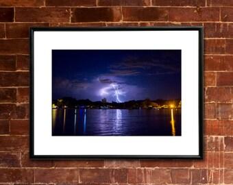 LIGHTNING Photograph - COLORADO RIVER Parker, Arizona - River Weather Thunderstorm Landscape Picture