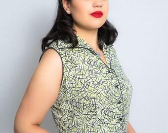 1950s Dress / 1950s Fashion / Circle Skirt / 1950s Party Dress / 1950s Dress with Full Circle Skirt / Pinup Dress / Viva Las Vegas