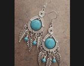 Dream Catcher Earrings ~ Turquoise