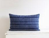 """Indigo batik Hmong cushion cover 12"""" x 20"""""""