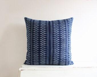"""Hmong indigo batik pillow cushion cover 20"""" x 20"""""""