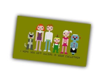 HALF OFF PATTERNS Sale The Jetsons Pixel People Cross Stitch Pdf
