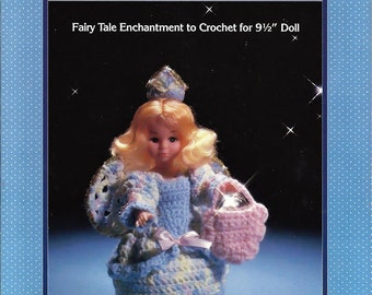 "Tooth Fairy outfit for 9 1/2"" Doll  Crochet  Pattern Fibre Craft  FCM 159"