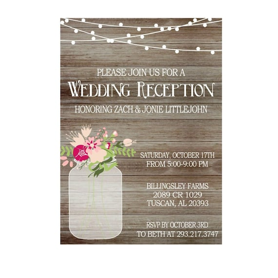 like this item - Wedding Reception Only Invitations