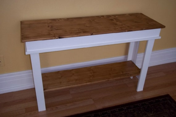 Farmhouse Console Table Side Table Entry By Daleswoodandmore