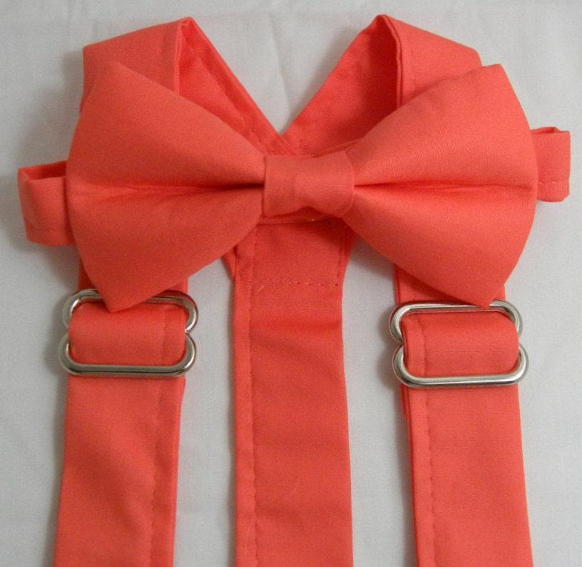 on sale coral reef suspenders and coral reef bow tie bridal