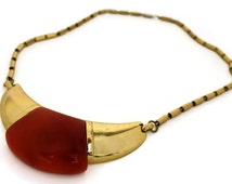 Vintage 1970s LANVIN Paris Modernist Lucite Necklace