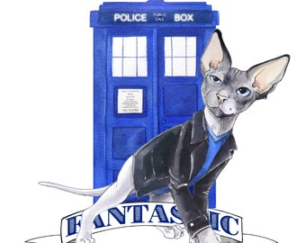Doctor Mew: Doctor Who the 9th Doctor Cat