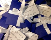Tears of Joy tissue packets for Wedding ceremony Nave Blue and White