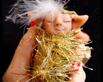 Christmas Tree Ornament, Necklace, Decor House Elf - Flake