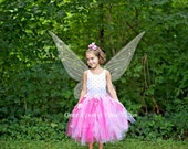 Hot Pink White Long Flower Tutu Skirt - Little Girl Child Size - 12M 2T 3T 4t 5 6 7 8 10 12 ... Photo Prop - Wedding Flower Girl Tulle Skirt