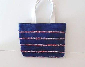 Nautical Summer Patriotic Tote/Red, White, and Blue Purse/Book and 4th of July Tote/Tablet Tote