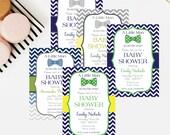 Little Man Bow Tie Baby Shower Invitation - 5x7 Baby Shower Invitations - Free Shipping