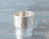 Hammered Sterling Silver Band