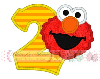 Elmo 2 Digital Machine Appliqué Embroidery Design