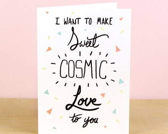 Sweet Cosmic Love Valentine's Card