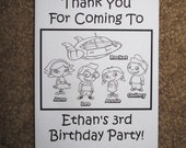 PDF FILE ONLY-- Little Einsteins Inspired Personalized Coloring Pages Booklets Books Birthday Party Favors