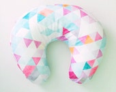 Boppy Cover Orchid Watercolor Triangles. Boppy. Nursing Pillow. Boppy Pillow Cover. Boppy Slipcover. Minky Boppy Cover. Pink Boppy Cover.