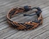Leather bracelet - Men's, Women's Handmade Leather Bracelet, womens leather bracelet, men's leather bracelet, unisex leather bracelet