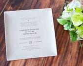 Wedding Gift, Wedding Present, Wedding Memento, Marriage Gift - Personalized Plate with Wedding Invitation  - Gift Boxed