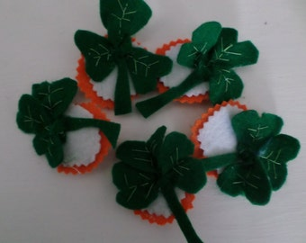 St Patrick's day shamrock pin on  badges
