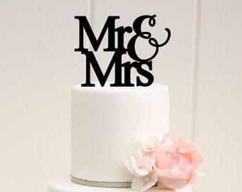 Mr & Mrs Wedding Cake Topper - Custom Made Cake Topper