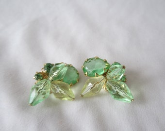A Pair of Beaded Clip-On Earrings