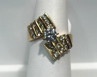 Vintage 14K Gold Handmade Engagement Ring