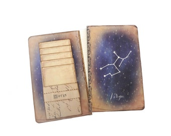 Virgo Constellation Journal, Zodiac Constellation Notebook, Horoscope, Astronomy, Astrology Journal, Universe, Stars, Virgo Gift