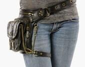 Uptown Pack - (Black) Thigh Holster, Protected Purse, Shoulder Holster, Handbag, Backpack, Purse, Messenger Bag, Fanny Pack