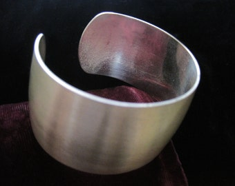 Sterling Felchraft Cuff Bracelet Vintage Silver 925  Chain Wide Large Statement